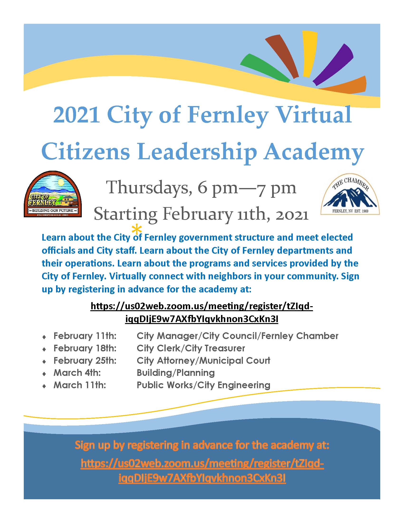 2021 Citizens Academy flyer