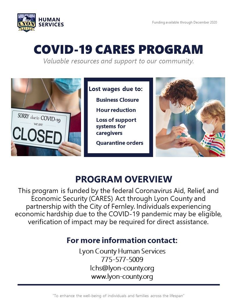 COVID19 CARES Program flyer